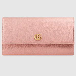 Gucci Marmont Continental Wallet in Light Pink